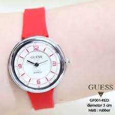 Jam Tangan Casio Diameter Kecil jam tangan monol guess geneva wanita rubber karet kecil grosir
