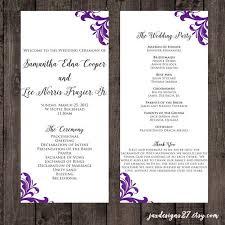 How To Do A Wedding Ceremony Program How To Design Wedding Program Template 30 Wedding Program Design