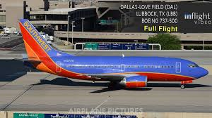 Dallas Love Field Map by Southwest Airlines Full Flight Dallas To Lubbock Tx Boeing