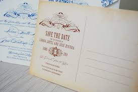 postcard save the dates modern postcard save the date vintage concept designing