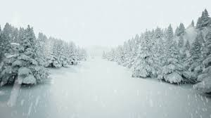 winter snow landscape high quality cg animation showing