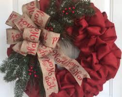 christmas burlap wreaths christmas wreaths etsy