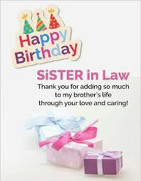 sister in law birthday card sister in law birthday cards template