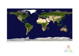 World At Night Map by Colouring The Earth Activities Unawe