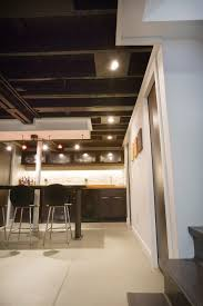 low ceiling basement modern with renovation reflector recessed