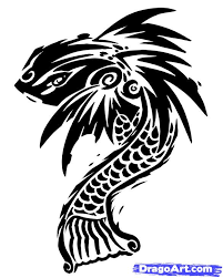 how to draw a tribal fish tribal koi step by step tribal art
