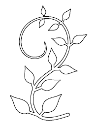 vine pattern use the printable outline for crafts creating