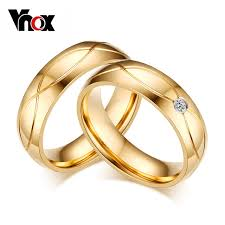 aliexpress buy vnox 2016 new wedding rings for women vnox 2016 hot wedding bands rings for women men gold color