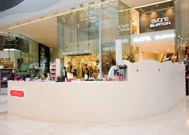Boutique Reception Desk Solid Surface Reception Desk Westfield Shopping Mall Hi Macs