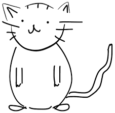 file black and white cat sketch png wikimedia commons