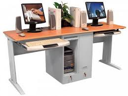 computer desk for 2 people two person workstation for office and