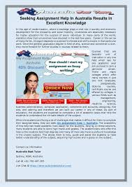 Seeking Australia Seeking Assignment Help In Australia Results In Excellent Knowledge