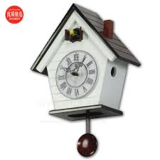 cuckoo clock european style small wooden clock the bird tell