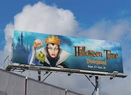 daily billboard maleficent and evil queen disneyland halloween