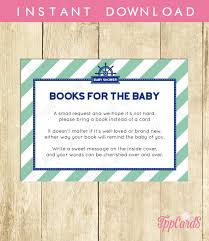 instead of a card bring a book bring a book baby shower invitation insert instead of a card stock