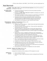Correctional Officer Resume Examples by The Most Awesome Police Officer Resume Templates Resume Format Web