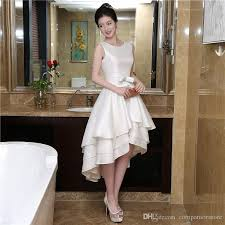 graduation white dresses beading white homecoming dresses asymmetrical white