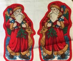 victorian santa christmas ornament stuff and sew kit 80s kit 5