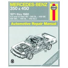 mercedes benz sl 107 350 u0026 450 haynes owner u0027s workshop manual