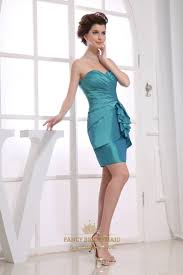 taffeta short bridesmaid dresses teal blue strapless cocktail