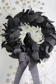 Black Halloween Wreath Katydid And Kid Nevermore Halloween Wreath Tutorial