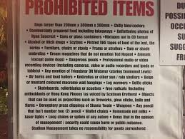 Foo Fighters Meme - put me like this list of prohibited items at a foo fighters
