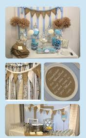 Baby Blue And Brown Baby Shower Decorations Vintage Baby Shower Nursery Rhyme Baby Shower Baby Boy Shower
