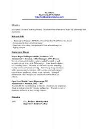 Sample Office Resume by Office Proffesional Resume Writer