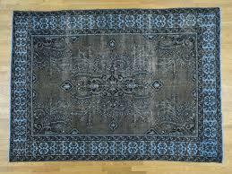 8 u0027x11 u0027 hand knotted overdyed worn persian bakhtiari pure wool rug