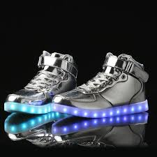 high top light up shoes led shoes high top silver official online store flashshoes com