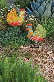 blue heron crane bird garden statue metal stake yard lawn