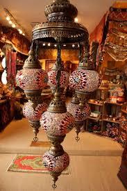 Mosaic Chandelier Turkish Turkish Flame Seven Lamp Mosaic Chandelier