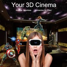 3d virtual reality headset 3d movie video player all in one vr