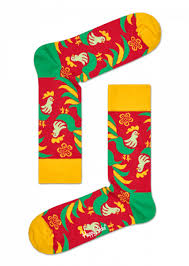 new years socks year of the rooster colourful socks box set happy socks