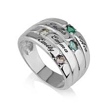 birthstone rings for mothers ring with birthstones
