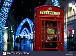 england london soho english telephone box and christmas stock