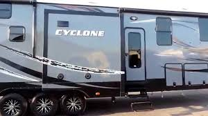 awesome 43 u0027 2016 heartland cyclone 4100 king 3 slides w generator