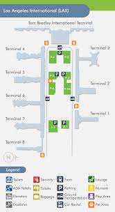 lax gate map los angeles airport lax terminal map
