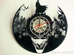 Batman Home Decor Joker Batman Vinyl Record Clock Wall Clock Vinyl Clock Catwoman