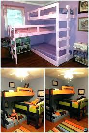 3 Kid Bunk Bed Bunk Bed For 3 Bunk Bed 3 Single Beds Podemosmataro Info