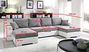 canap droit 6 places canapé d angle convertible panoramique 5 à 6 places enno tissu et