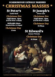 christmas mass times 2016 poster scarborough catholic parishes
