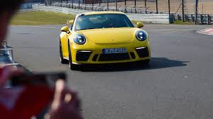 watch the 2018 porsche 911 gt3 lap the nurburgring 12 seconds