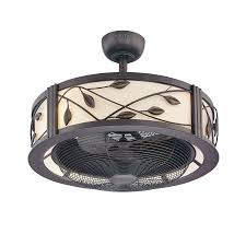 Lowes Outdoor Ceiling Fans With Lights Shop Fanimation Studio Collection Eastview 23 In Bronze