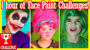 Challenge In Nose Out 1 Hour Of Paint Challenges Inside Out Trolls