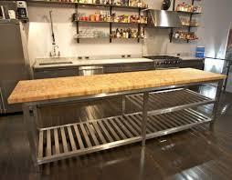 steel kitchen island chic stainless steel kitchen island with butcher block top also