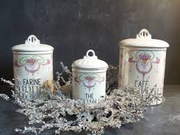 french antique set of 3 kitchen canisters 1937 kitchen containers
