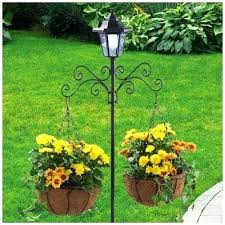 ace hardware solar lights solar l post with hanging baskets alleasyrecipes club