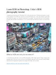 hdr photography tutorial photoshop cs3 learn hdr in photoshop high dynamic range imaging exposure