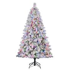 flocked christmas tree ebay